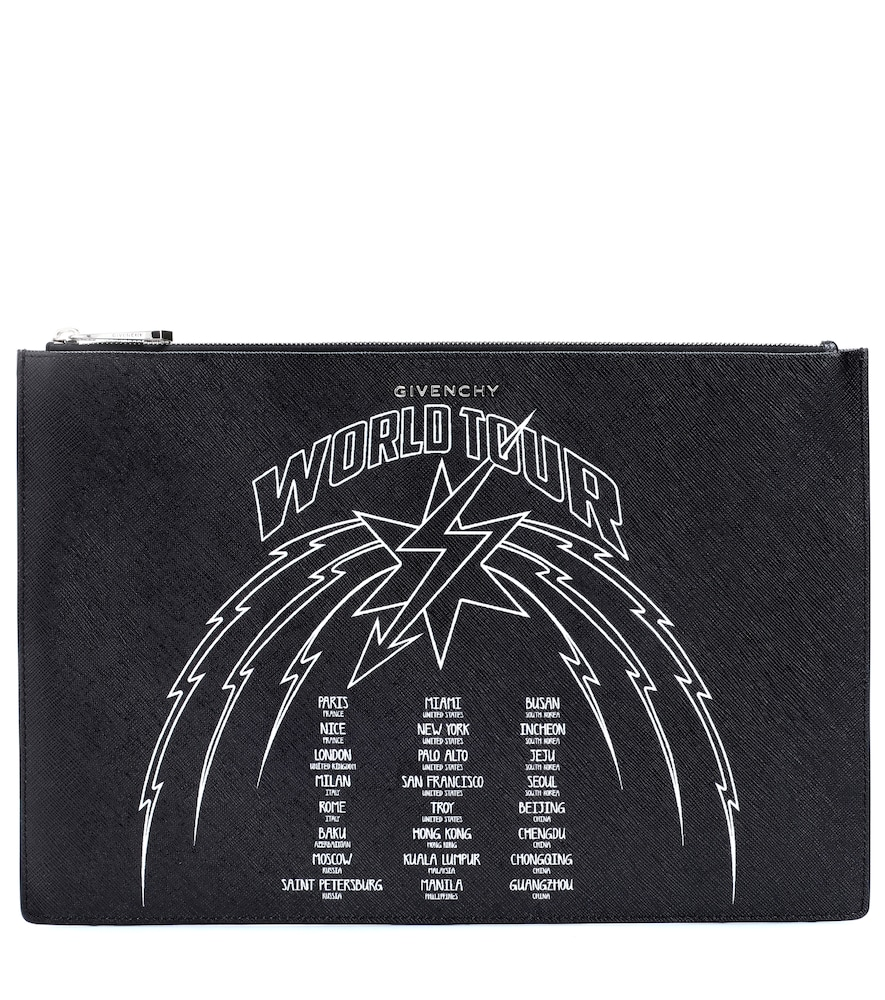 World Tour Graphic Pouch - Black, Black/ White