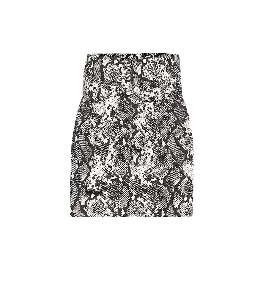Virgi python-print cotton miniskirt