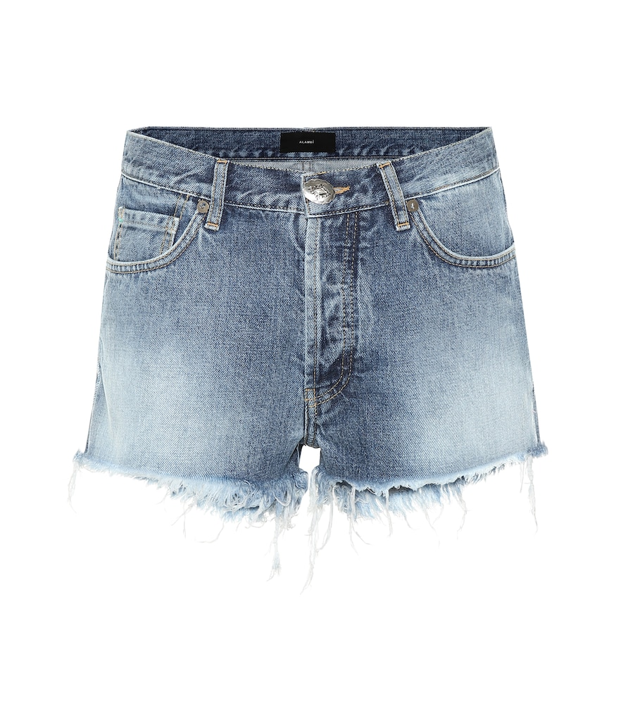 Mini-short en jean à perles