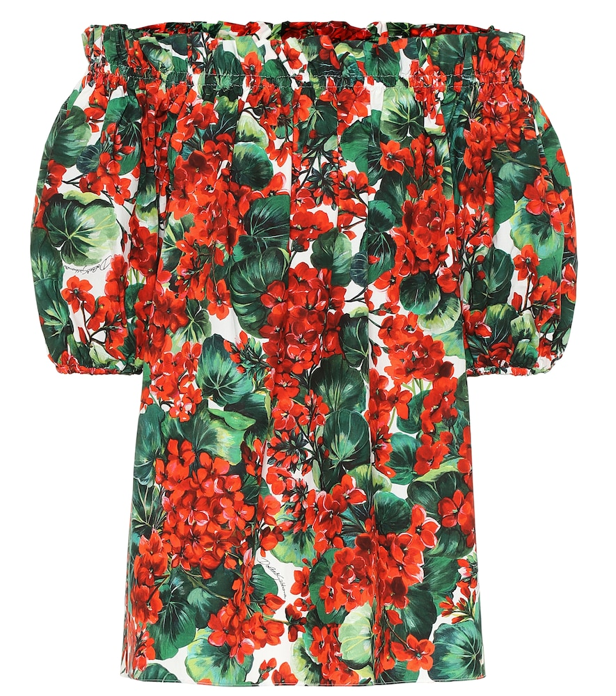 DOLCE & GABBANA | Floral Off-The-Shoulder Top | Goxip