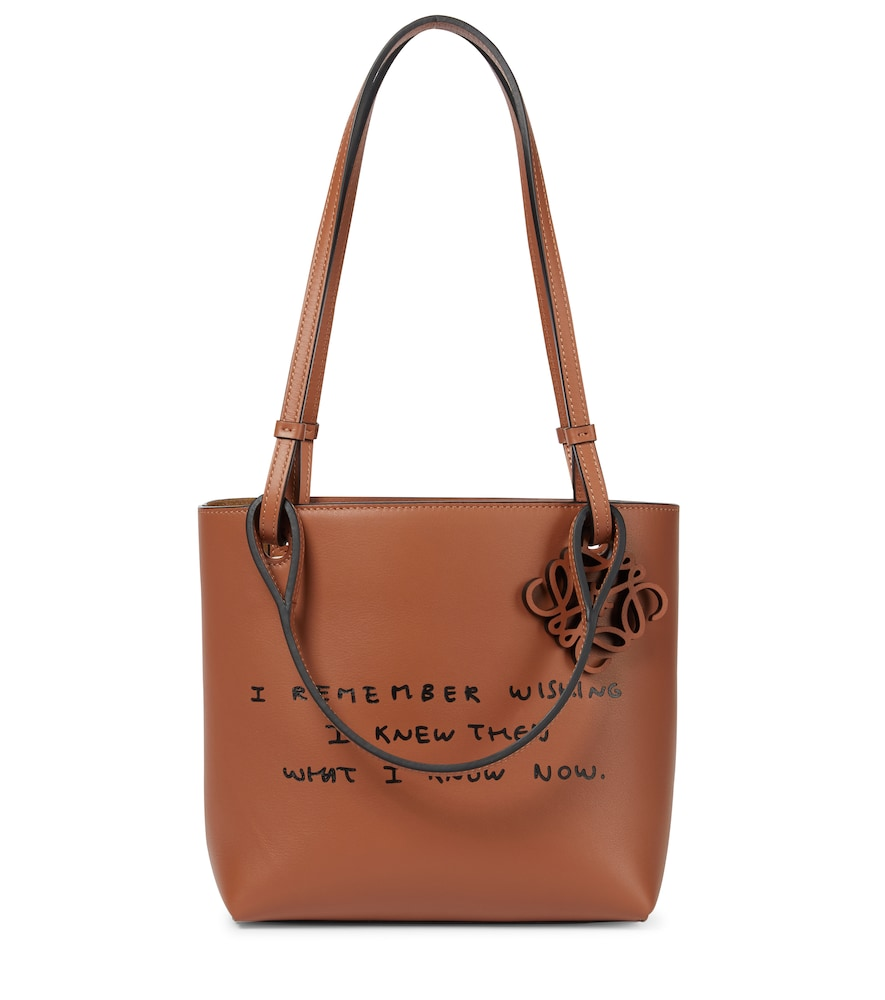 Words leather tote