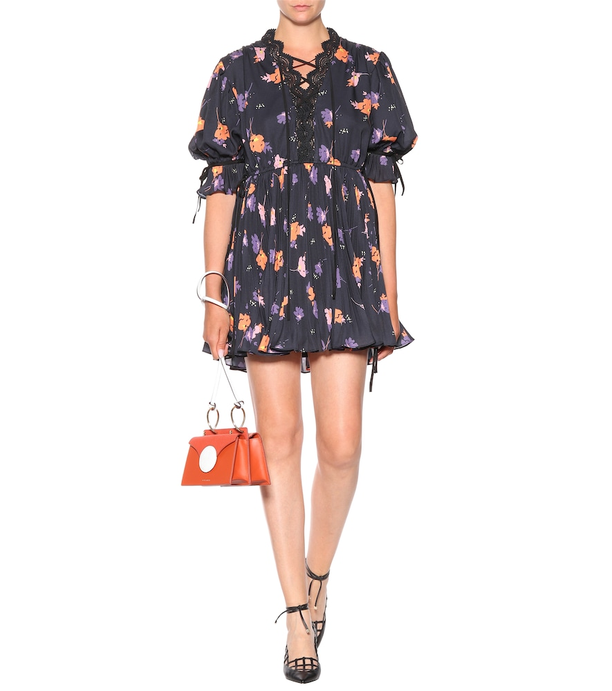 Exclusive to mytheresa.com - Floral-printed crêpe minidress by Self-Portrait