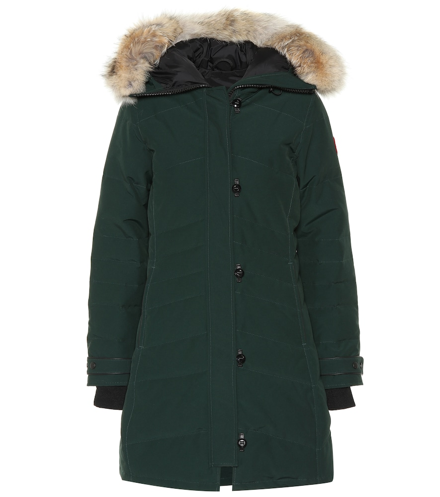 Loretta Fur-Trimmed Parka in Green