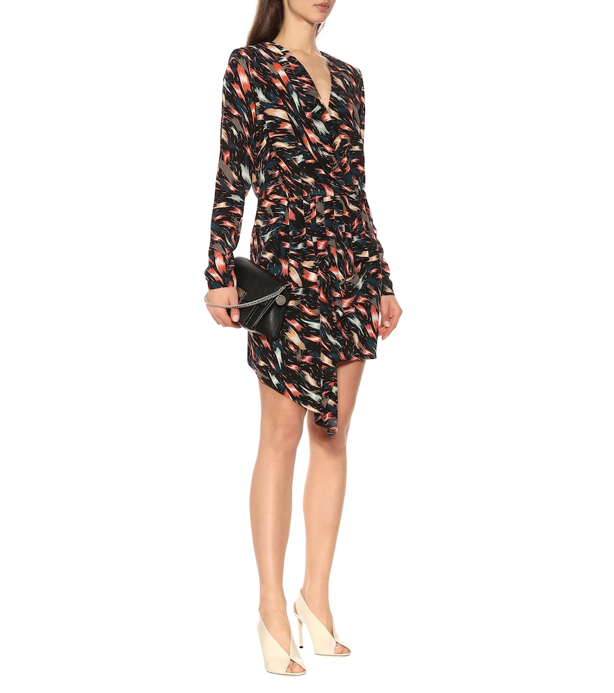 Printed silk wrap dress by Givenchy