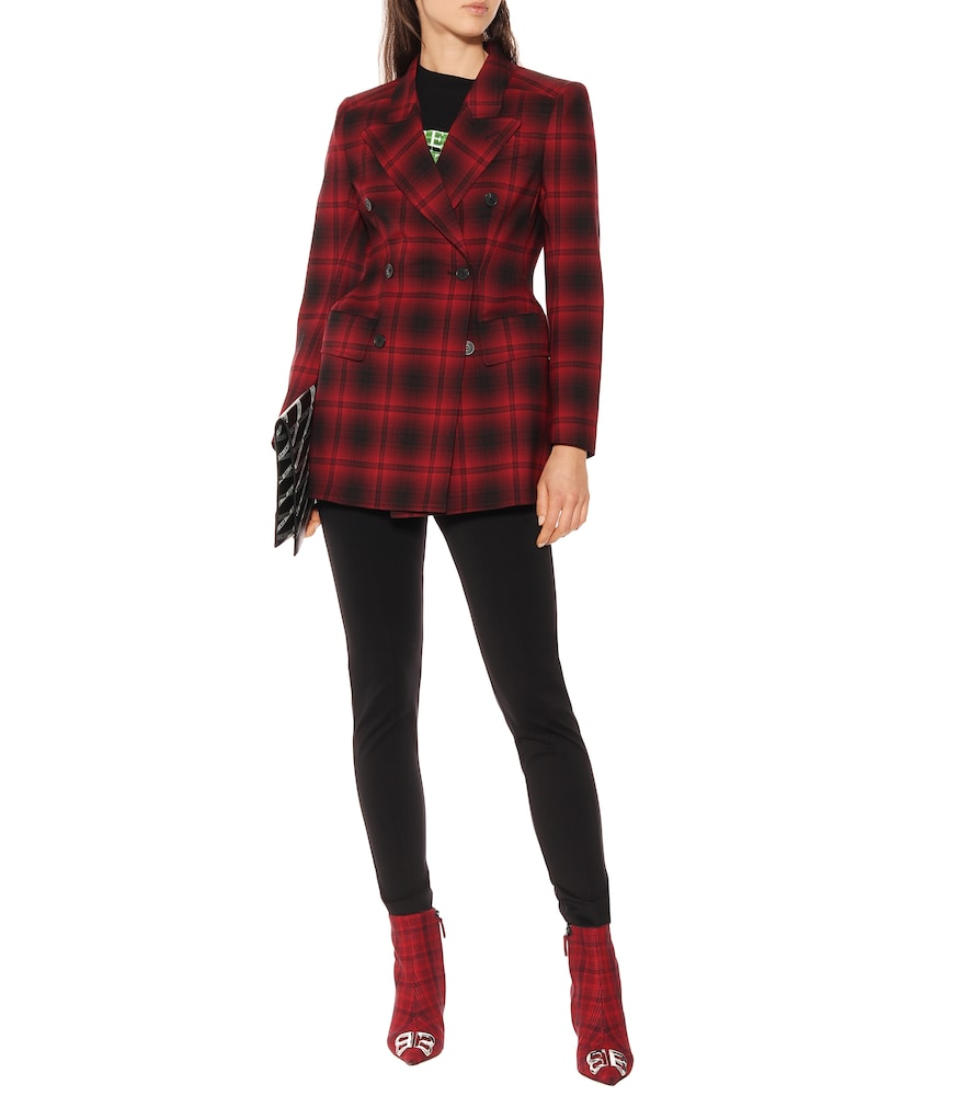 Hourglass checked blazer by Balenciaga
