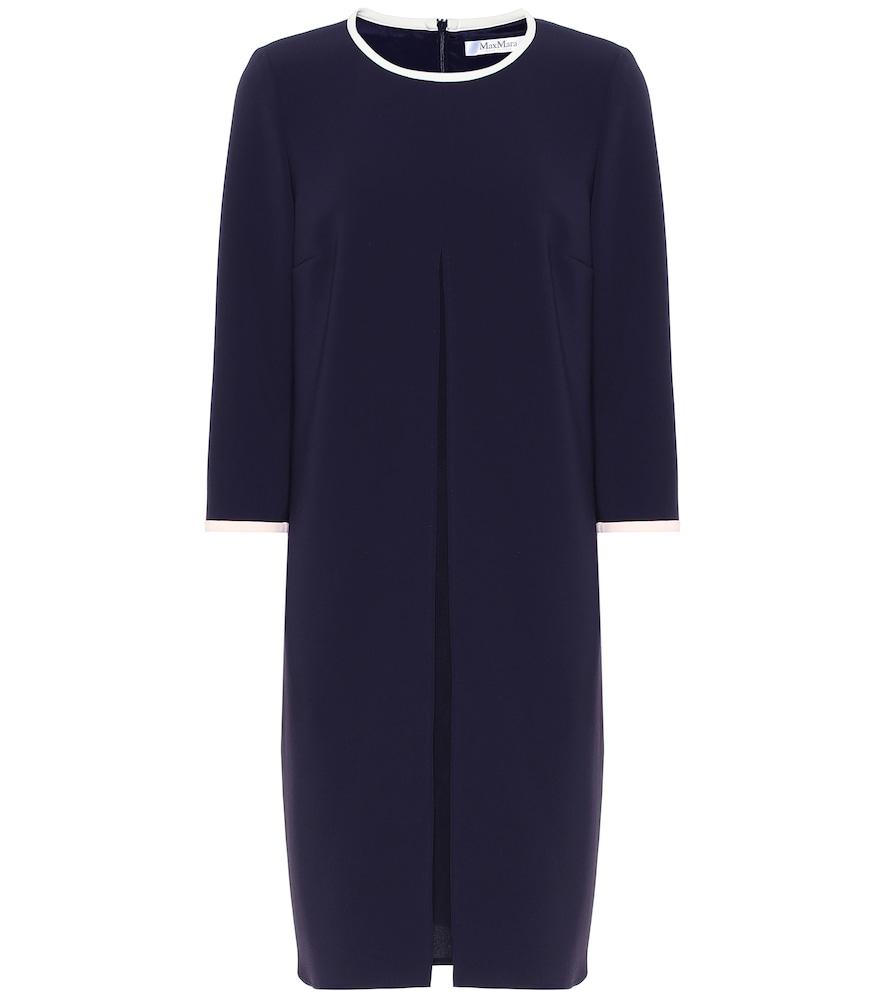 Azulene crêpe dress
