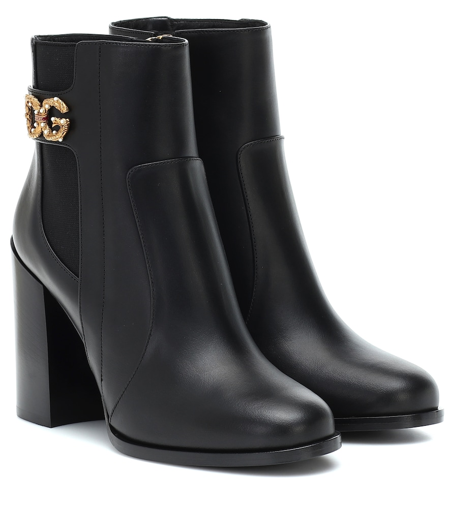 Dolce & Gabbana Boots RODEO 90 LEATHER ANKLE BOOTS