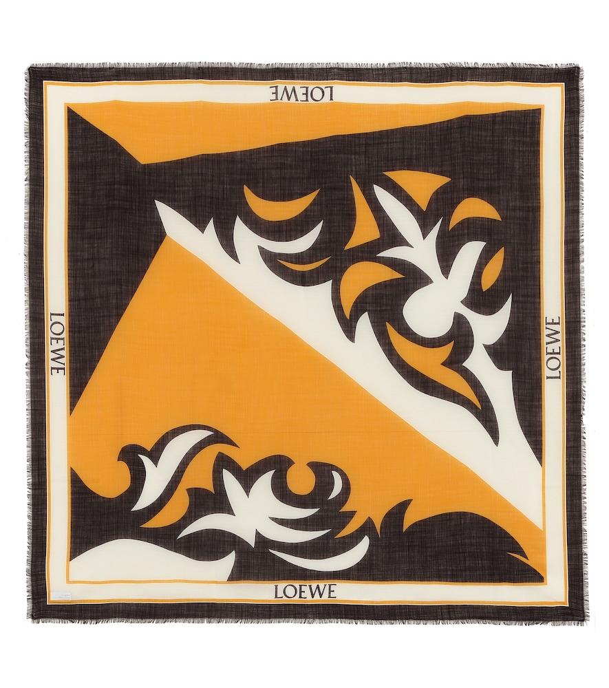 Foulard imprimée en laine