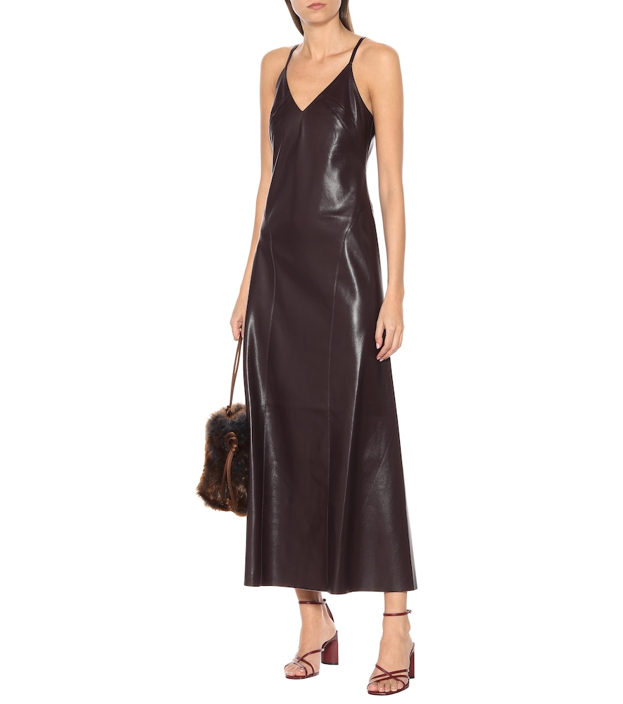 Anira faux leather midi dress by Nanushka