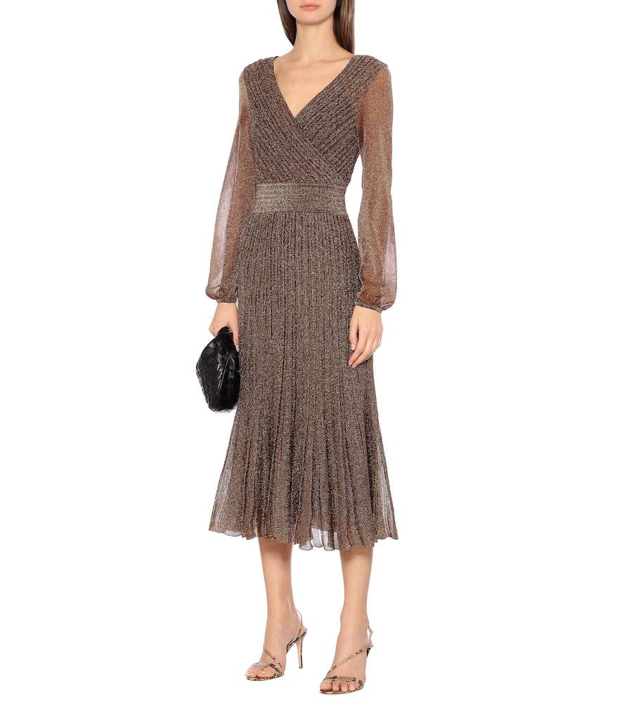 Metallic knit midi dress by Missoni