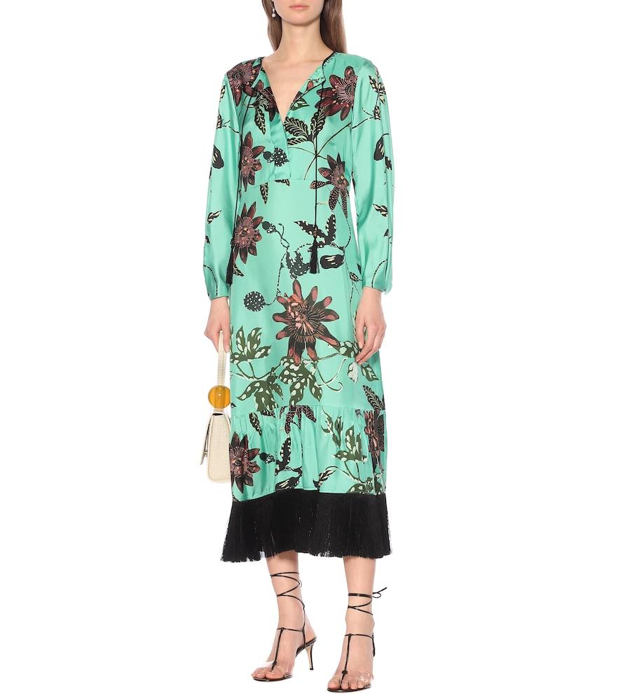 Powerful Flora floral silk-faille dress by Dorothee Schumacher