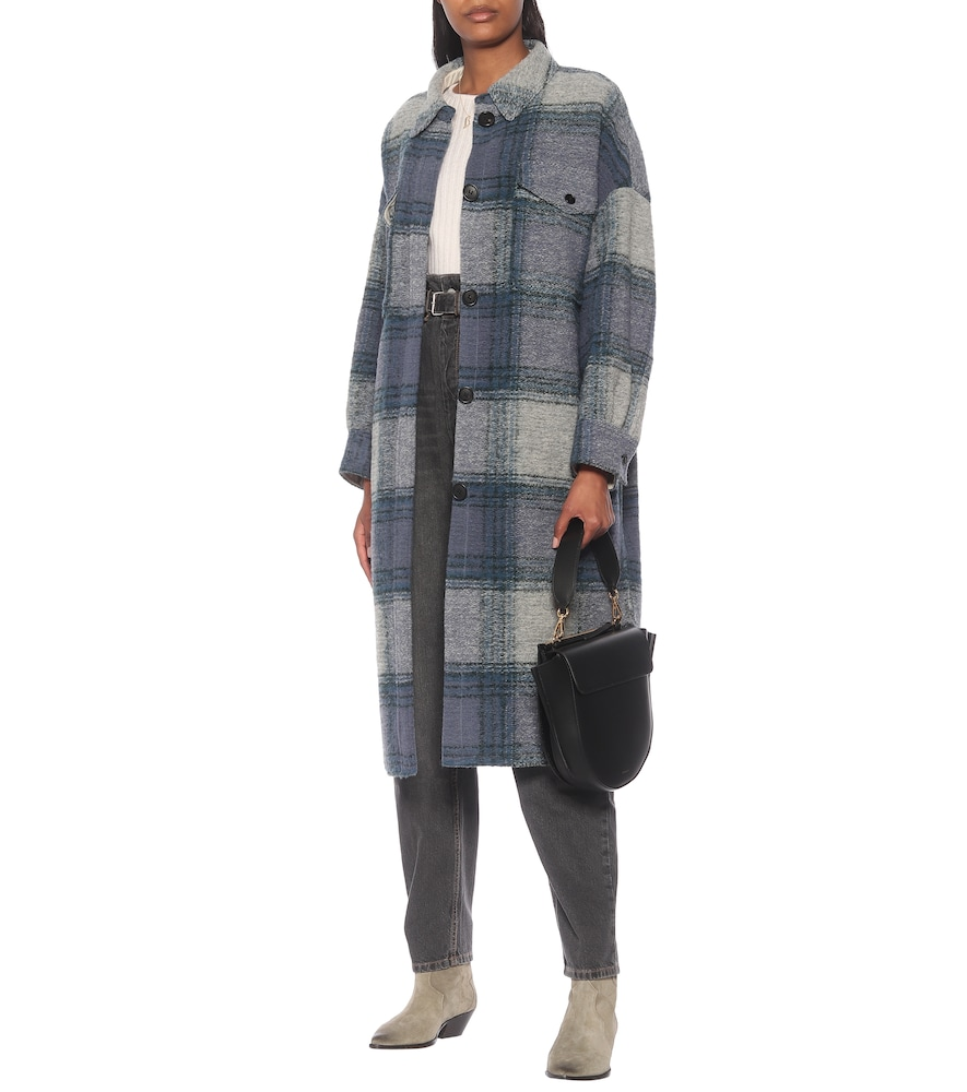 Gabrion checked wool-blend coat by Isabel Marant, Étoile