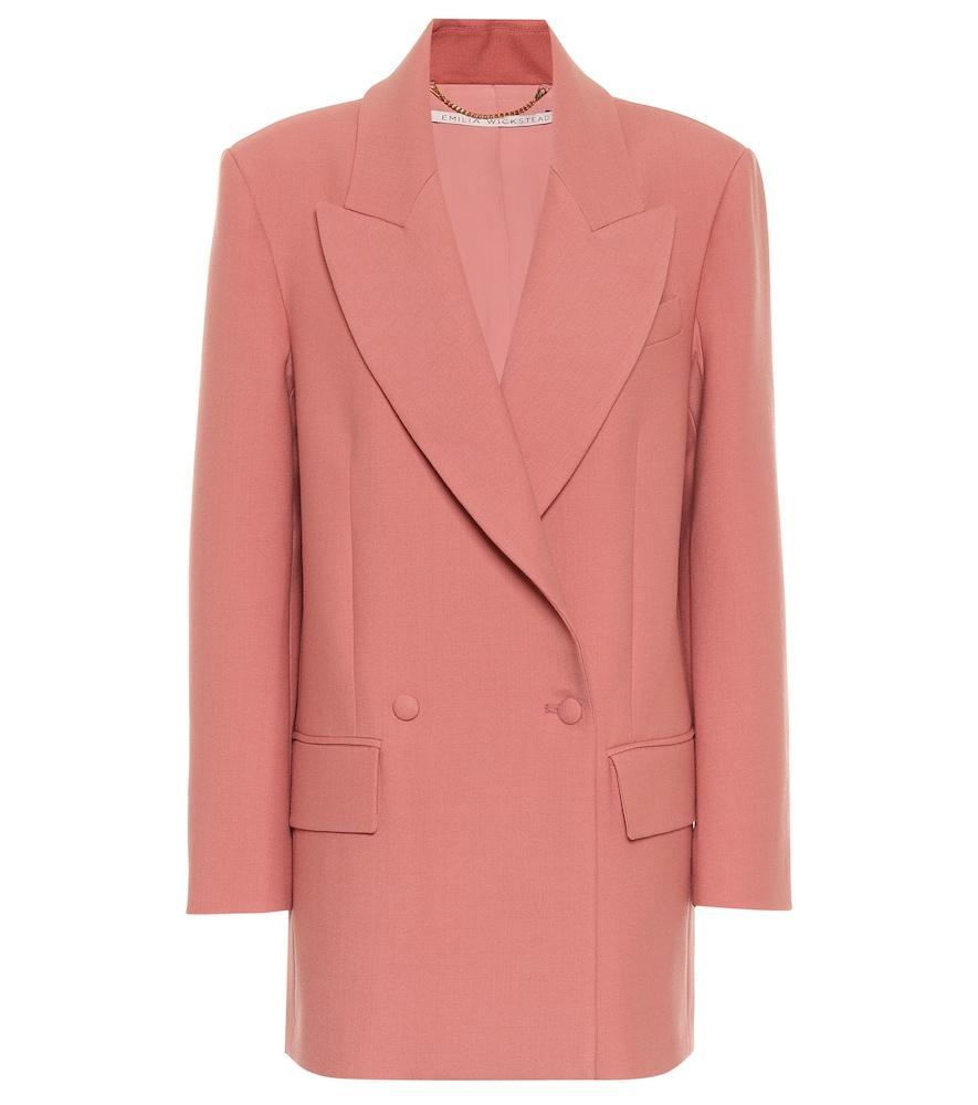 Mallory gabardine blazer by Emilia Wickstead