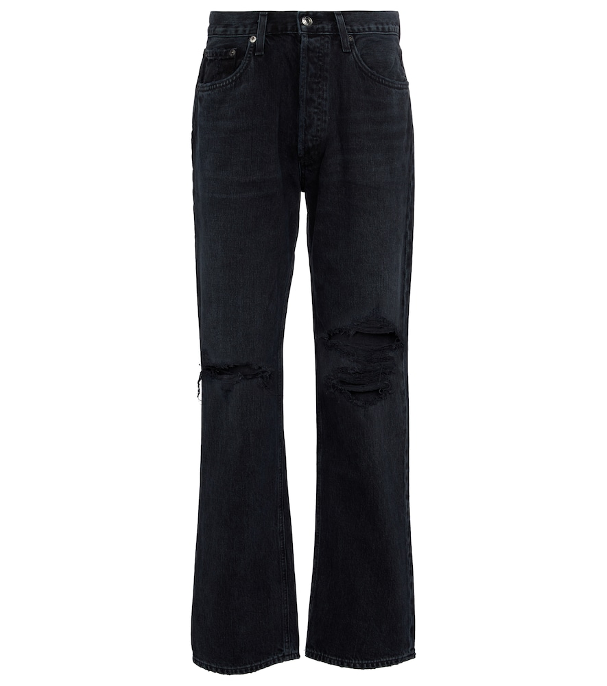 Lana mid-rise straight jeans