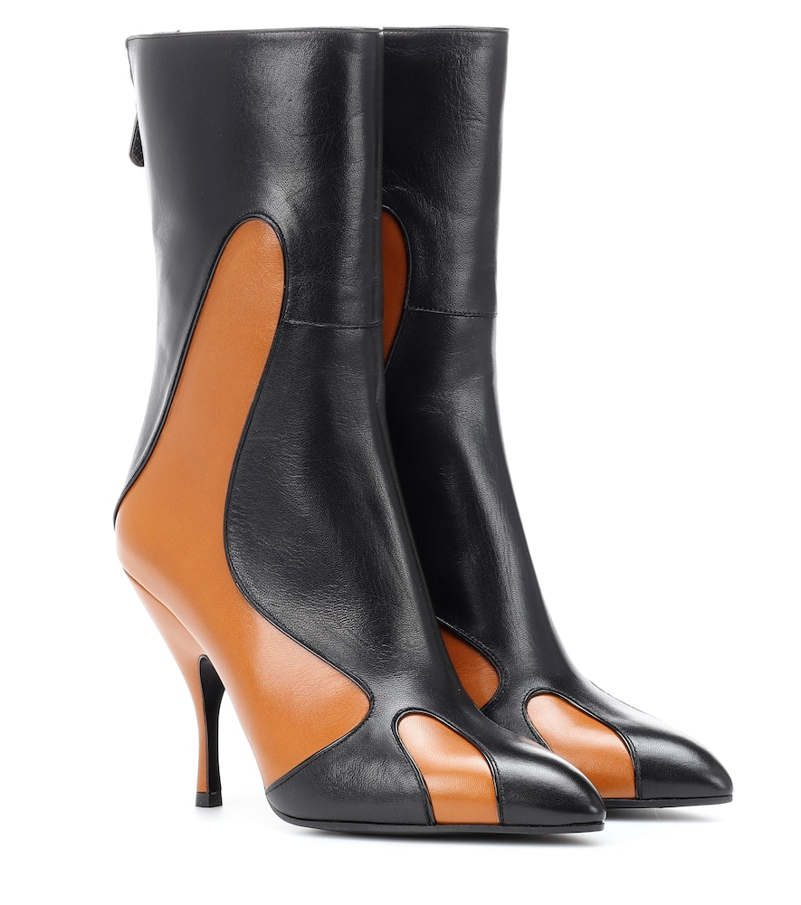 Leather Ankle Boots, Black
