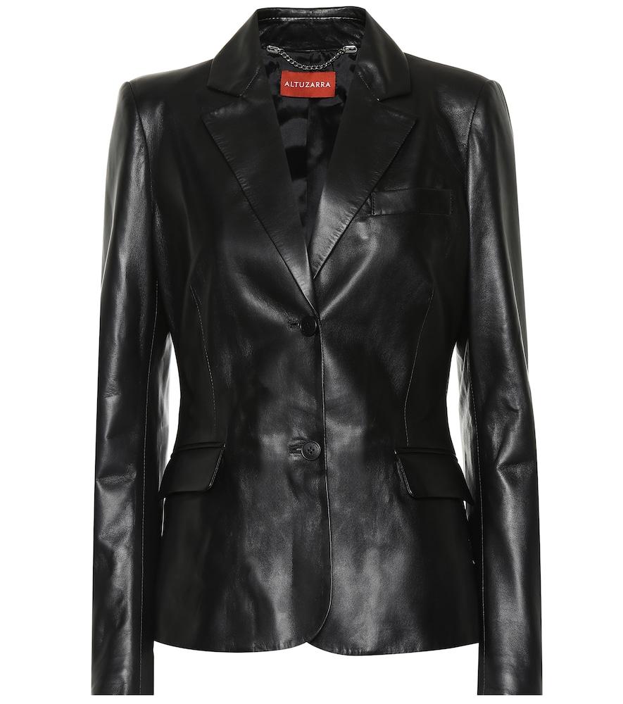Altuzarra Egan Leather Jacket In Black