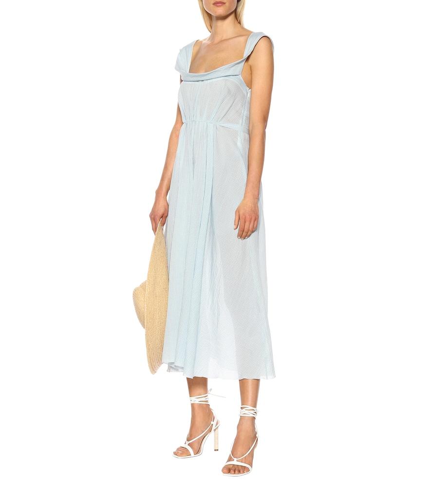 Exclusive to Mytheresa - Davi gingham cotton midi dress by Brock Collection