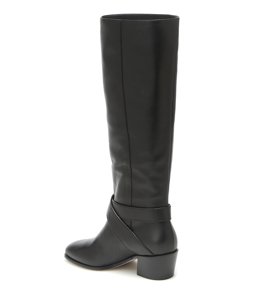 JIMMY CHOO Leathers BECA 45 LEATHER KNEE-HIGH BOOTS