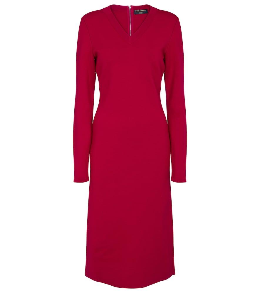 Exclusive to Mytheresa – Stretch-wool midi dress by Dolce & Gabbana