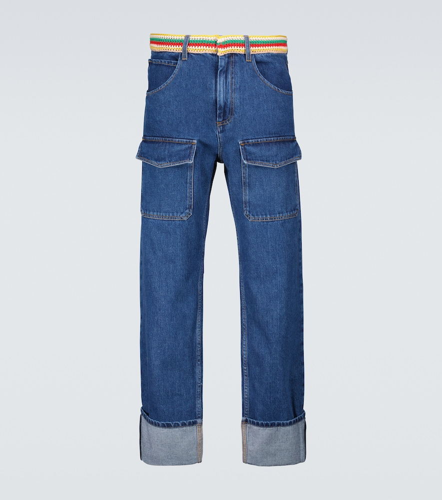 Wales Bonner BRIXTON PATCH POCKET JEANS
