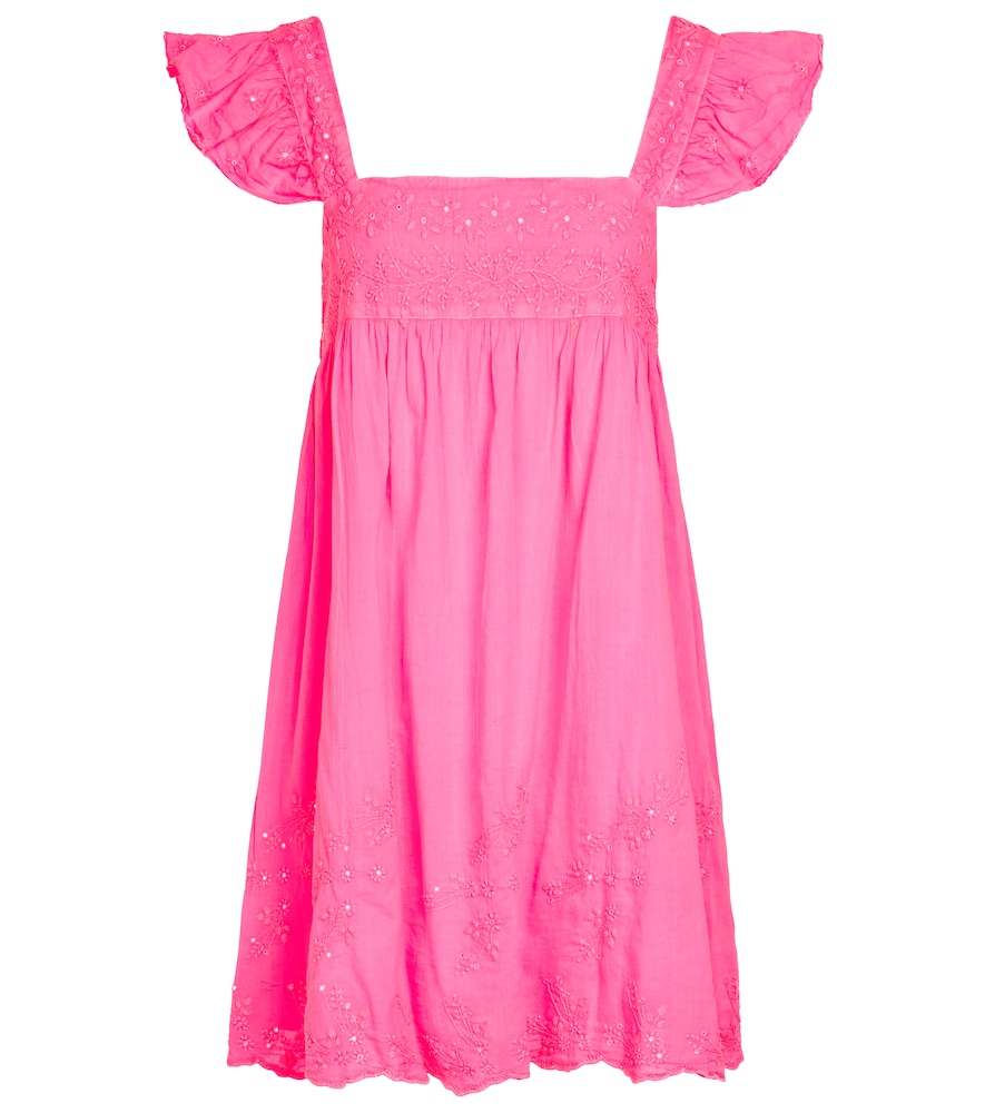 Embroidered cotton minidress