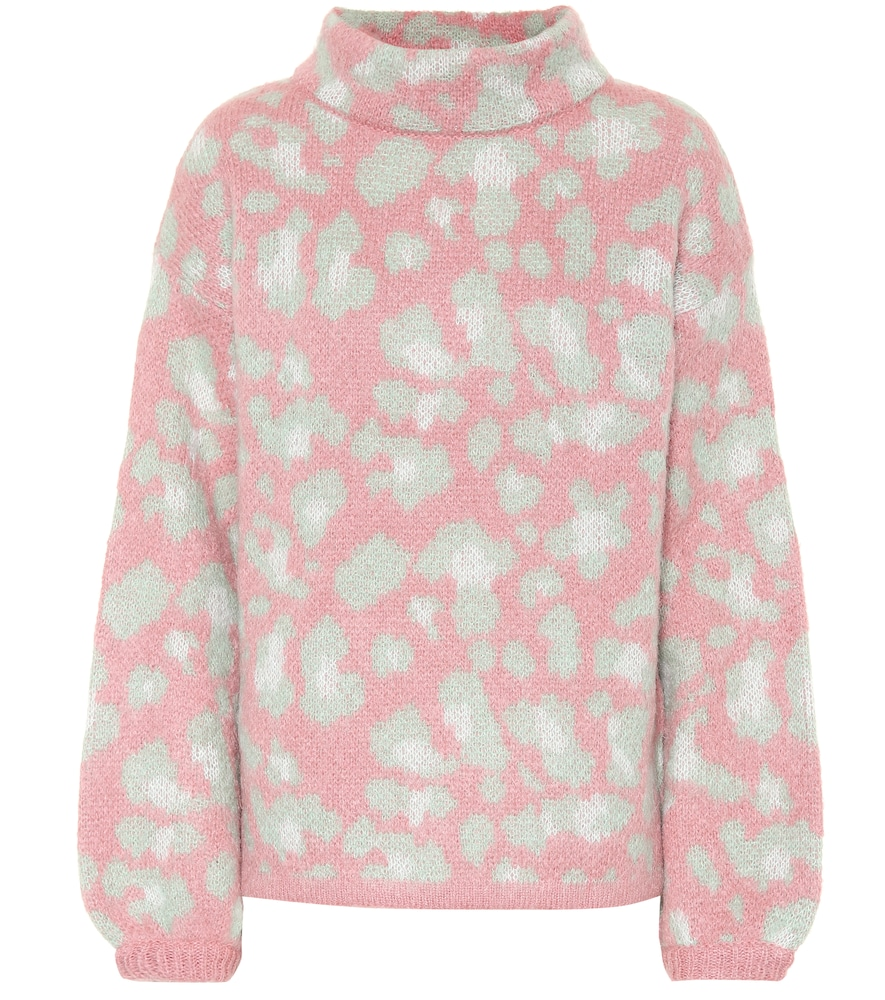 81 HOURS Melissa Mohair-Blend Sweater in Pink