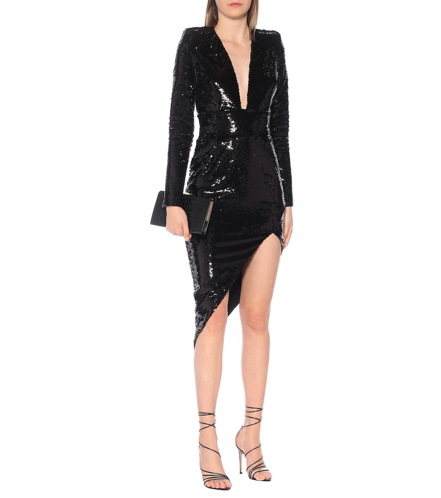 Sequined asymmetric midi dress by Alexandre Vauthier