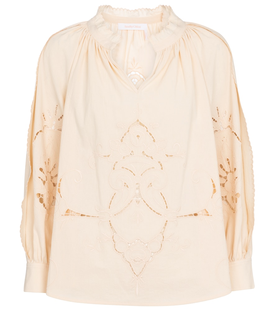See By Chloé V-NECK COTTON BLOUSE