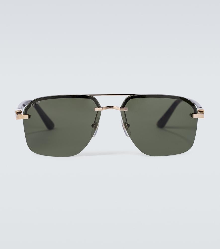 Frameless aviator sunglasses
