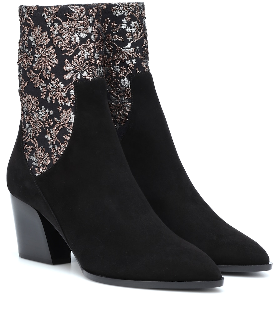 PIERRE HARDY RODEO SUEDE ANKLE BOOTS