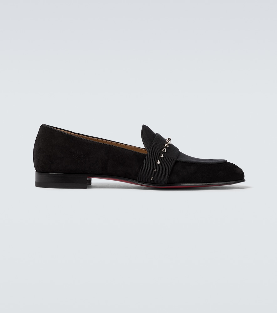 Nit Night suede and twill loafers