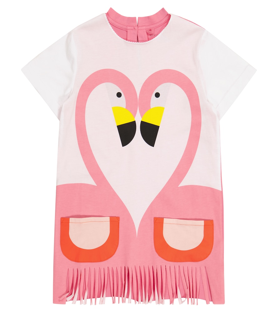 Stella Mccartney FLAMINGO COTTON JERSEY DRESS