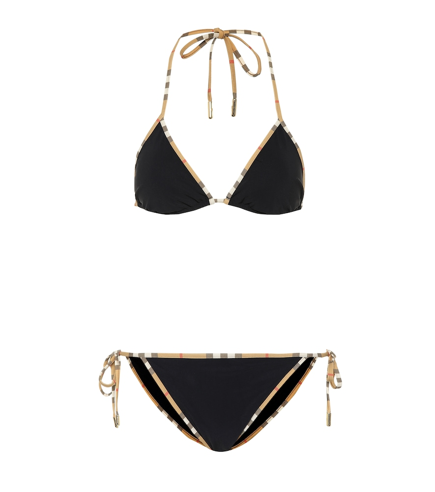 Bikini Vintage Check triangle