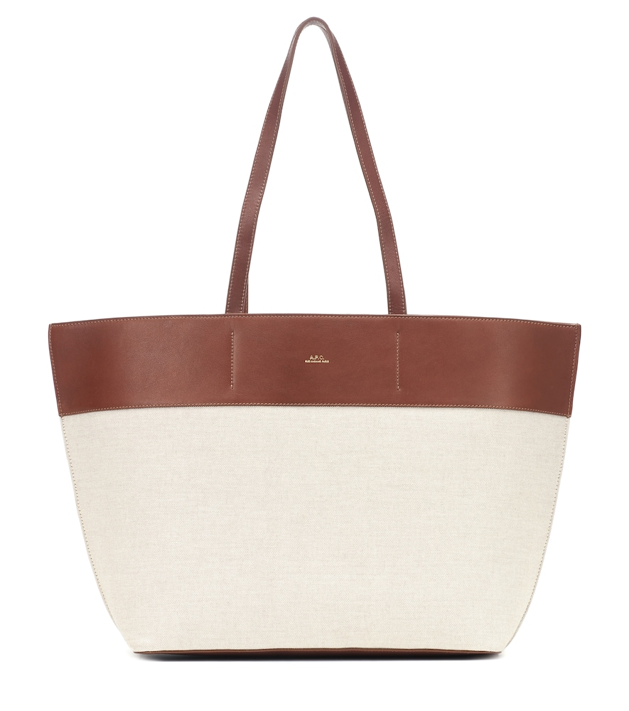 A.P.C. | Totally Leather-Trimmed Canvas Tote | Goxip