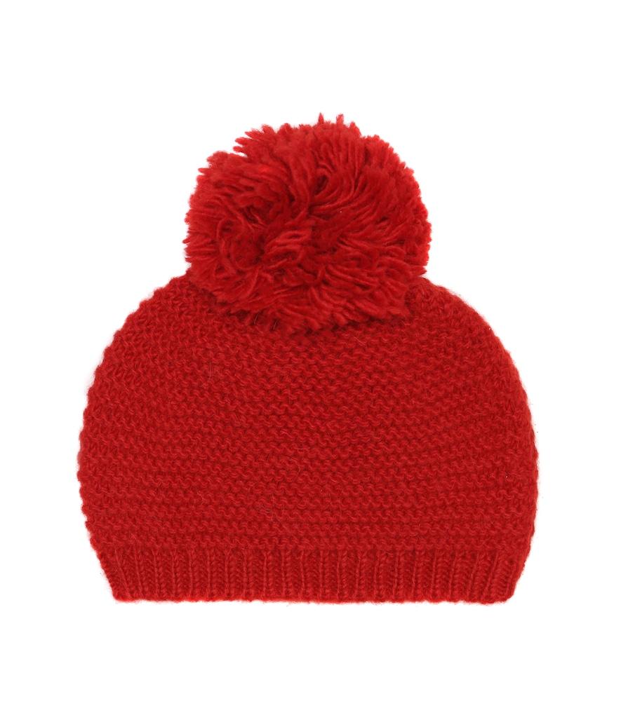 Bonnet en laine et alpaga mélangés