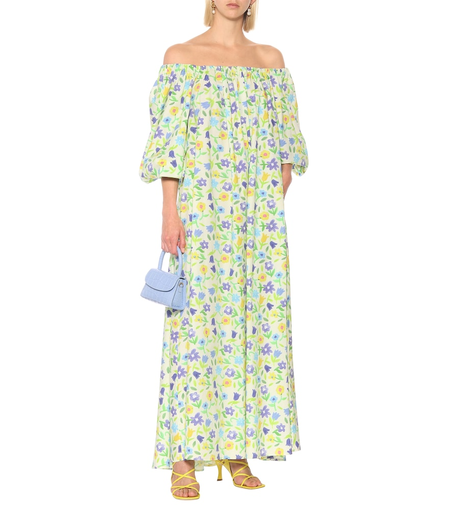 Bobby floral cotton maxi dress by Bernadette