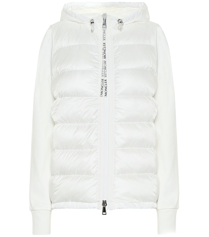 Cotton jersey and down jacket