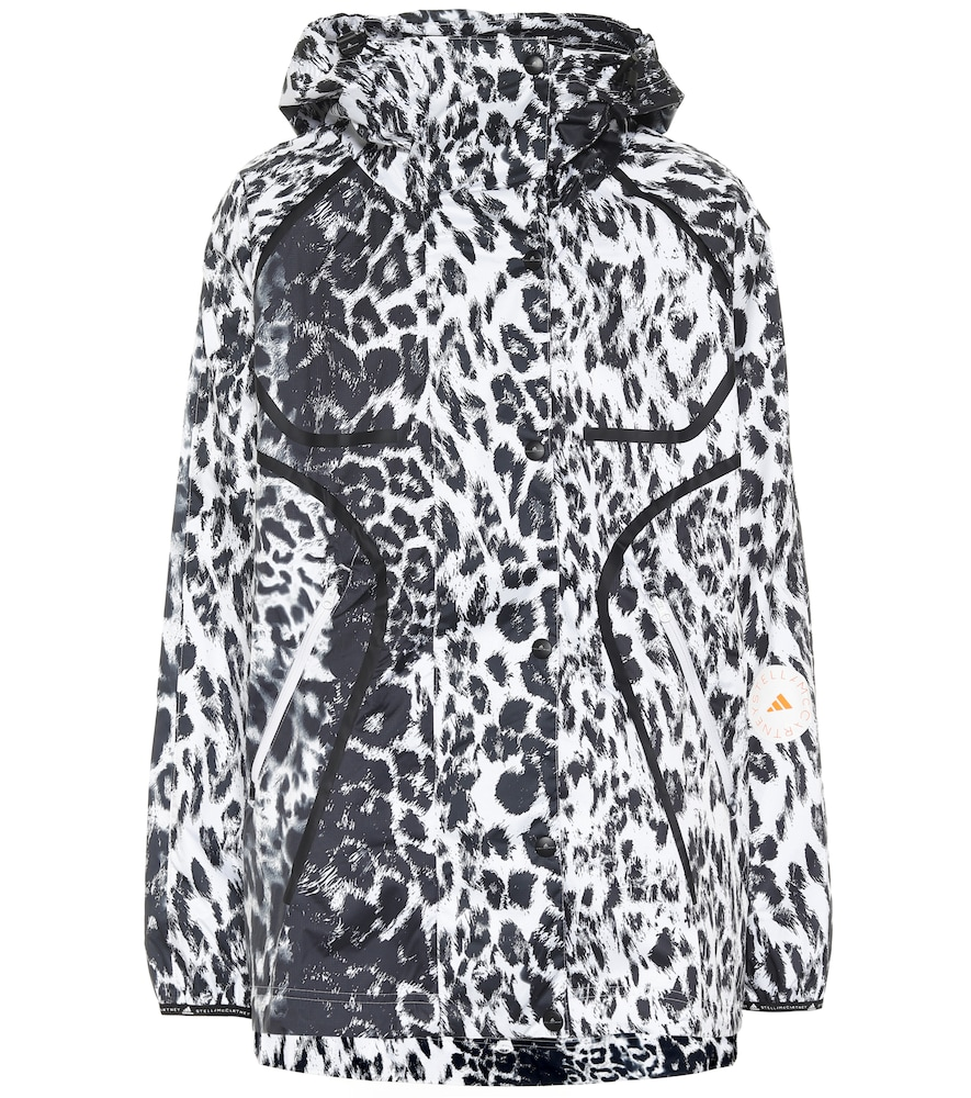 Adidas By Stella Mccartney TRUEPACE LEOPARD-PRINT RUNNING JACKET