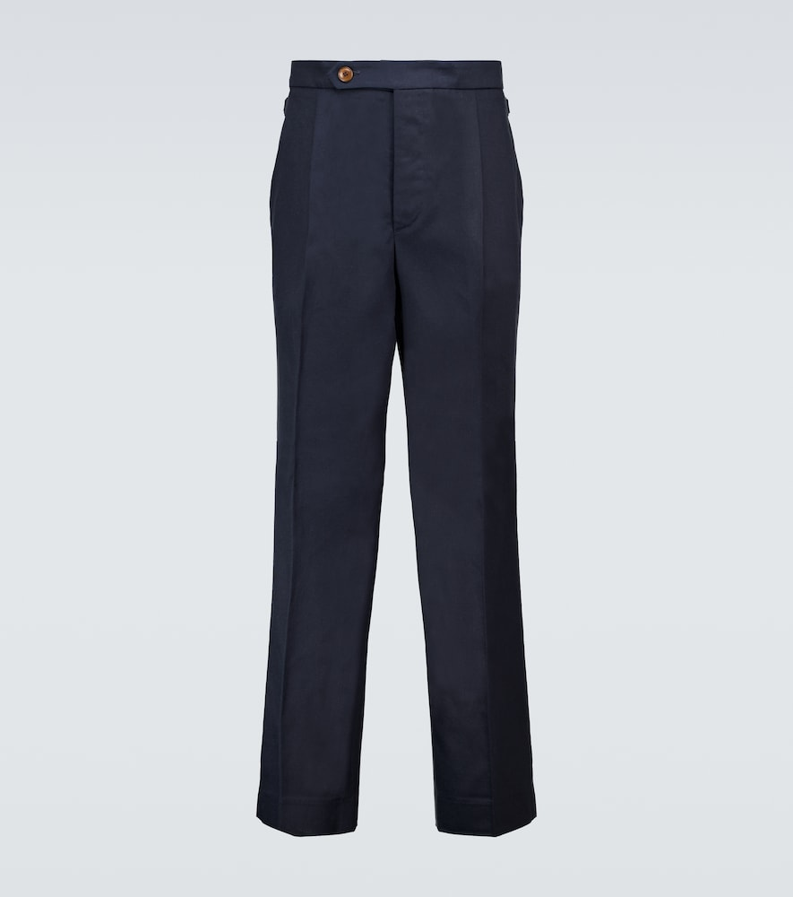Pleated TENCEL® and cotton pants