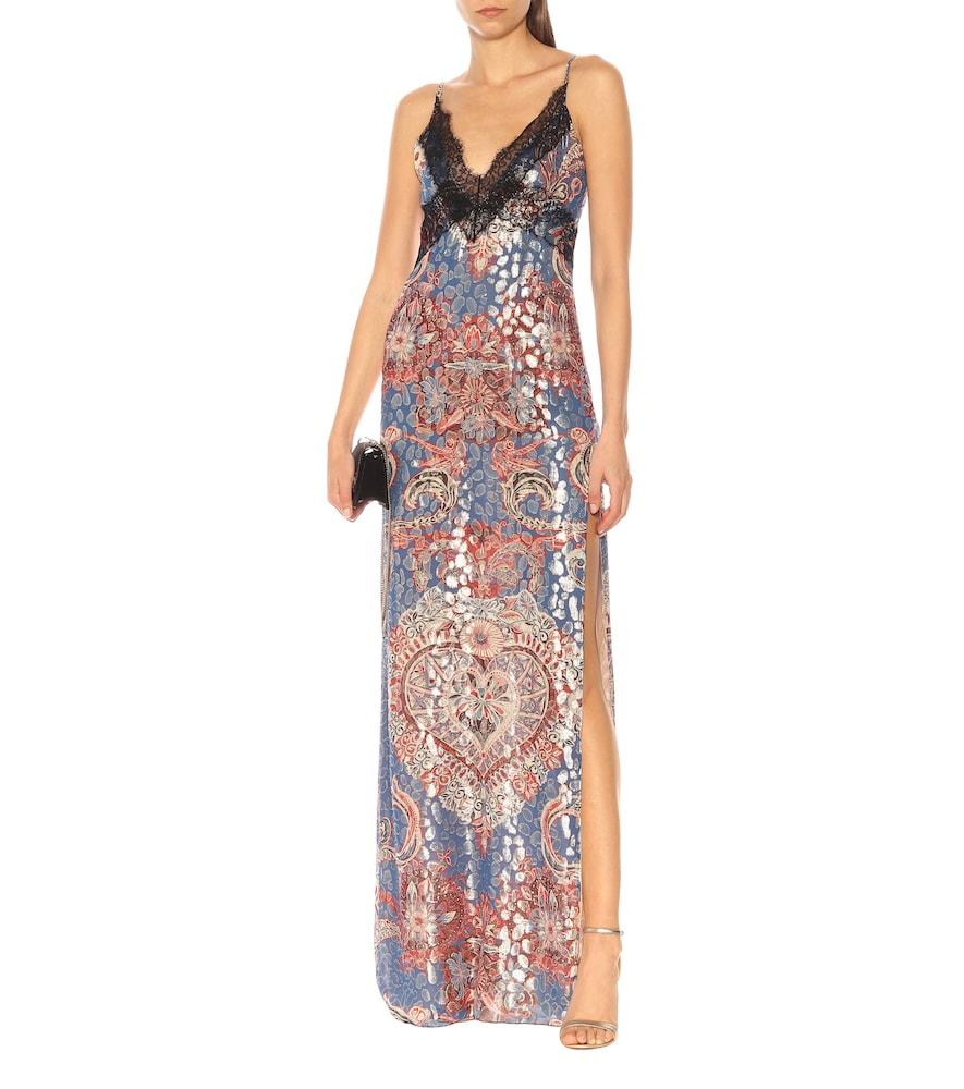 Fil coupé stretch-silk slip dress by Dundas