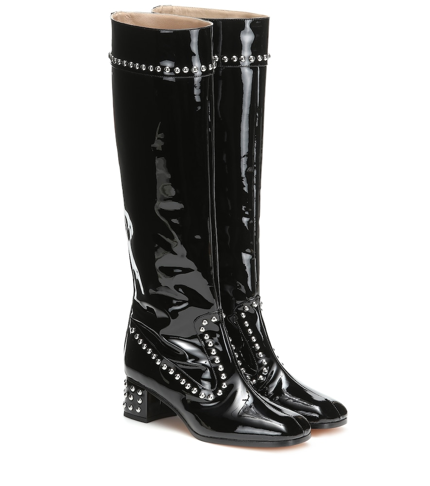 685e889a79b Maryam Nassir Zadeh Kiki Patent Leather Knee-High Boots In Black ...