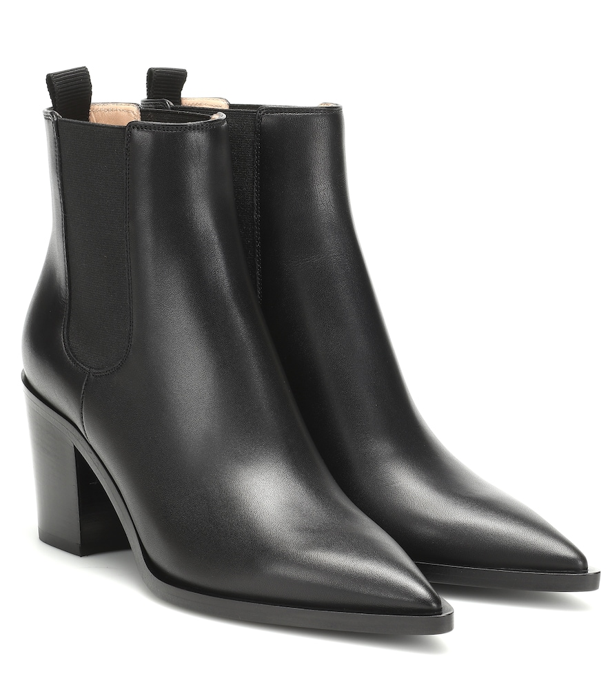 GIANVITO ROSSI | Romney 70 Leather Ankle Boots | Goxip