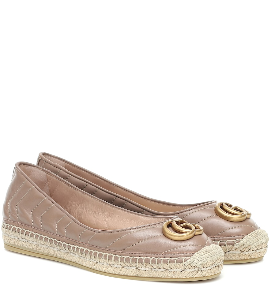Gucci Shoes MARMONT LEATHER ESPADRILLES