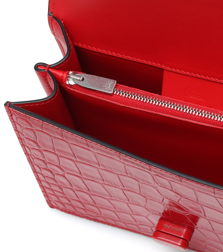 CHRISTIAN LOUBOUTIN Leathers ELISA SMALL CROC-EFFECT LEATHER TOTE