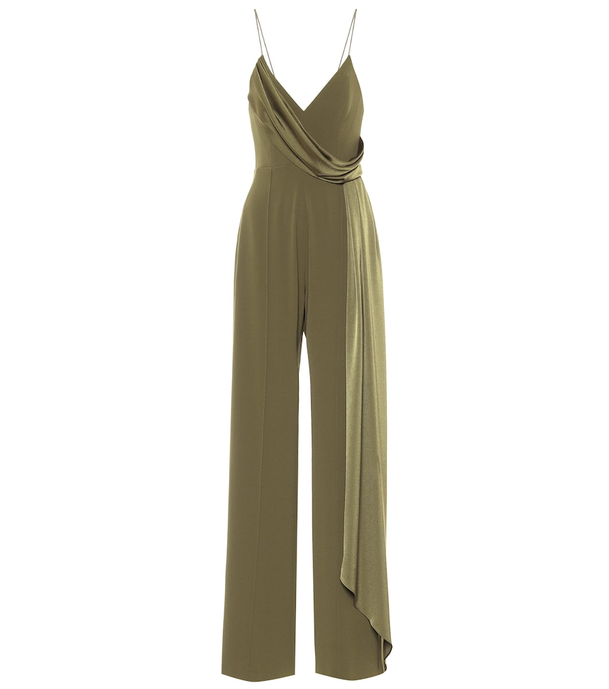 Alex Perry HARLOW SATIN-CRÊPE JUMPSUIT