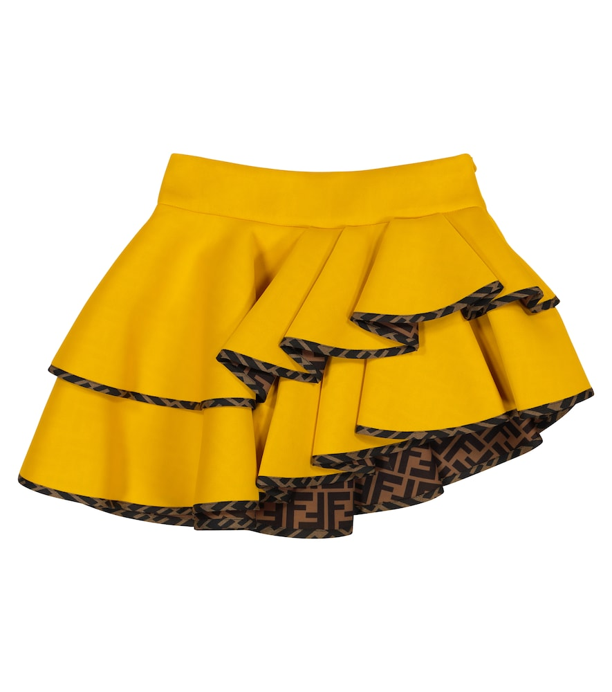 Fendi ASYMMETRICAL NEOPRENE SKIRT