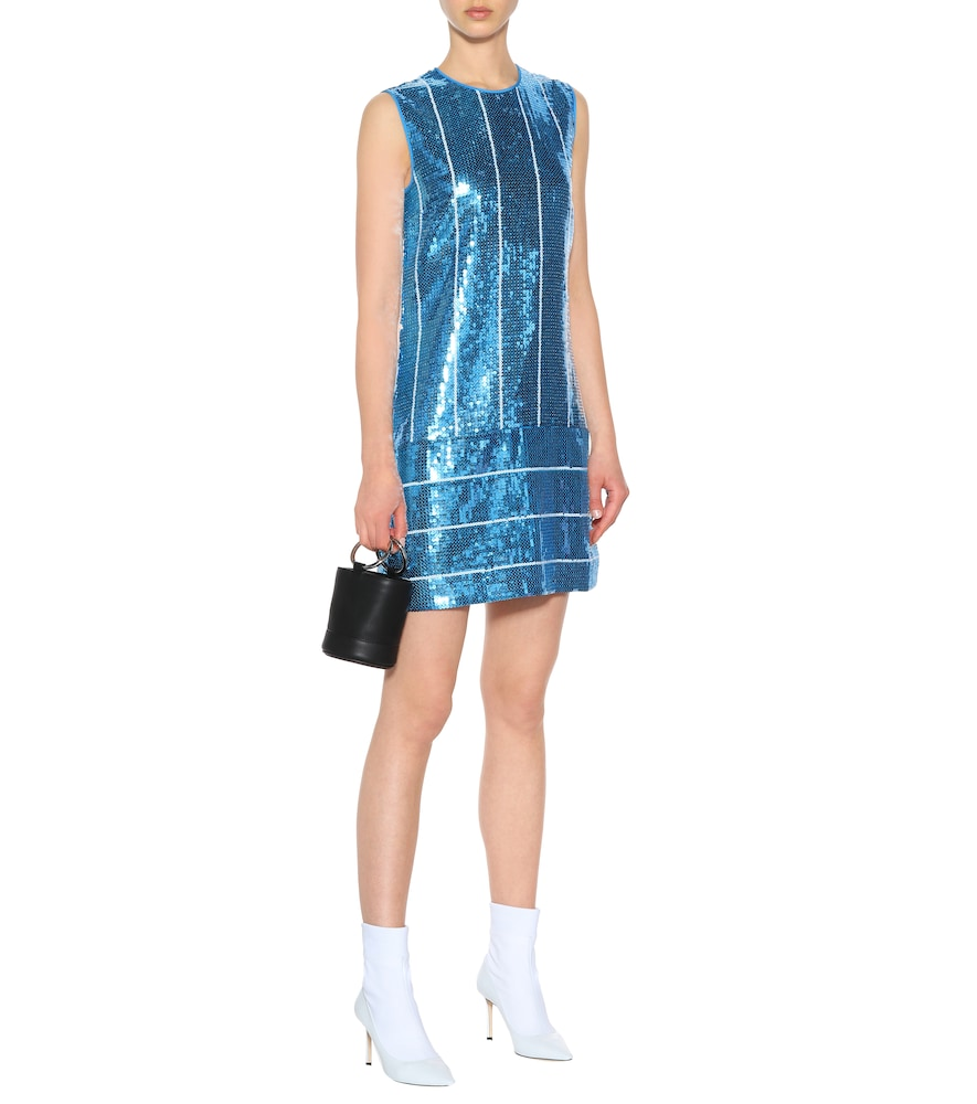 Sequined striped shift dress by Victoria Victoria Beckham