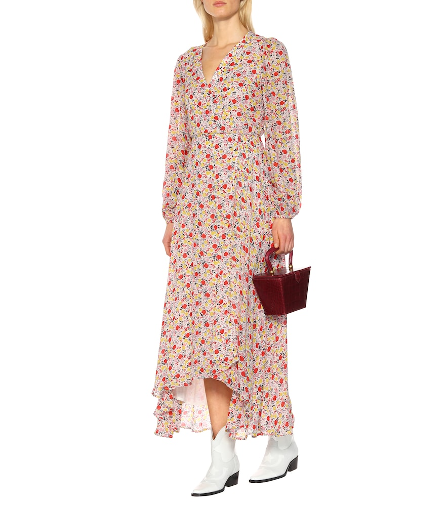 Exclusive to Mytheresa - Floral georgette wrap dress by Ganni