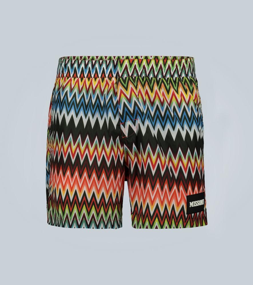 Mare - Short de bain imprimé zig-zag - Missoni - Modalova