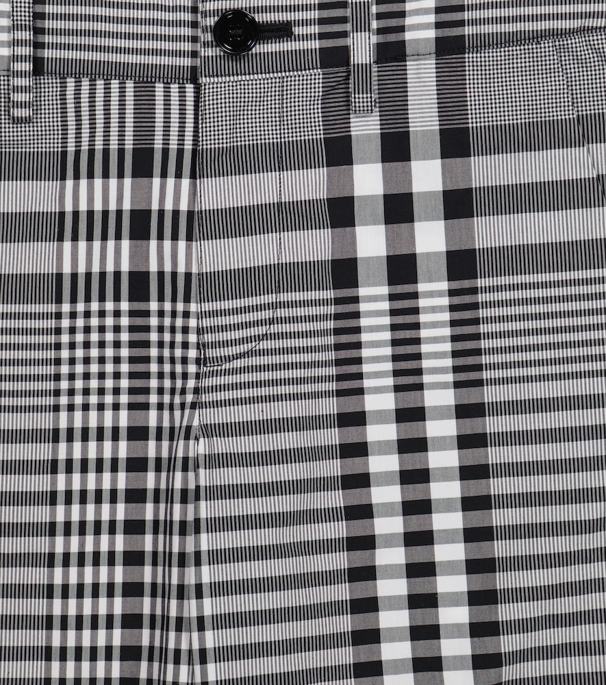 BURBERRY Cottons CHECKED COTTON POPLIN SHORTS